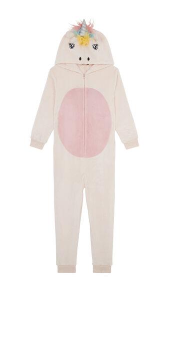 Combinaison enfant rose pâle unikeniz pink.