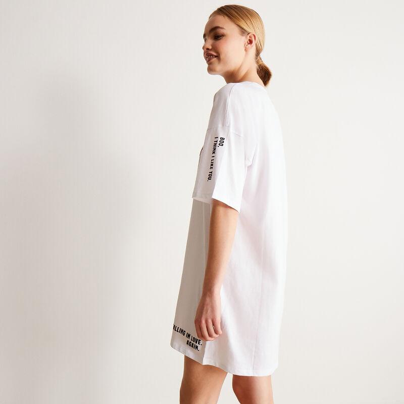 tunique motifs mood coeurs - blanc;