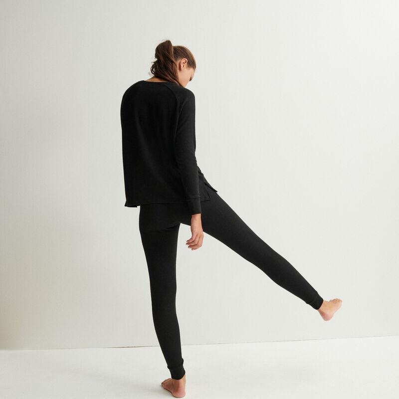 Gebreide broek - zwart ;