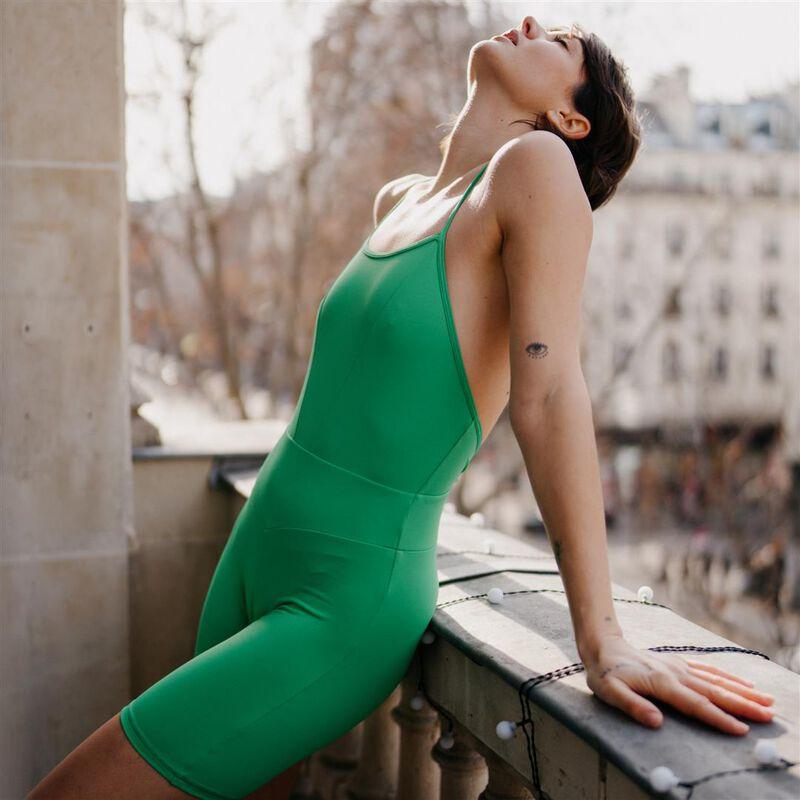 sport-combishorts met gekruiste schouderbandjes - groen;