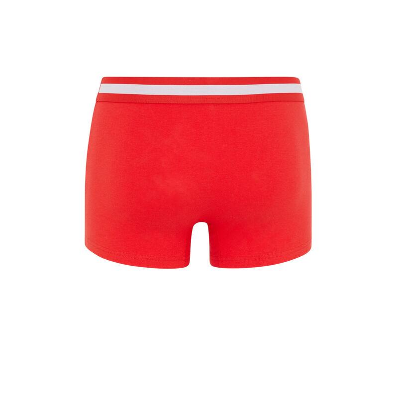 boxer en coton - orange;