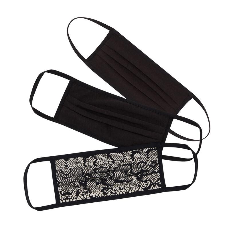 mondkapje met slangenprint - zwart;