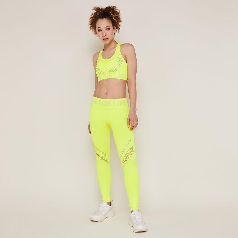 legging sport jaune fluo