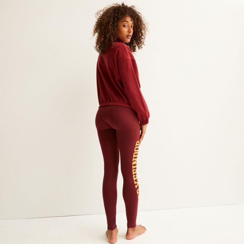 sweater met Griffoendorprint - bordeauxrood;