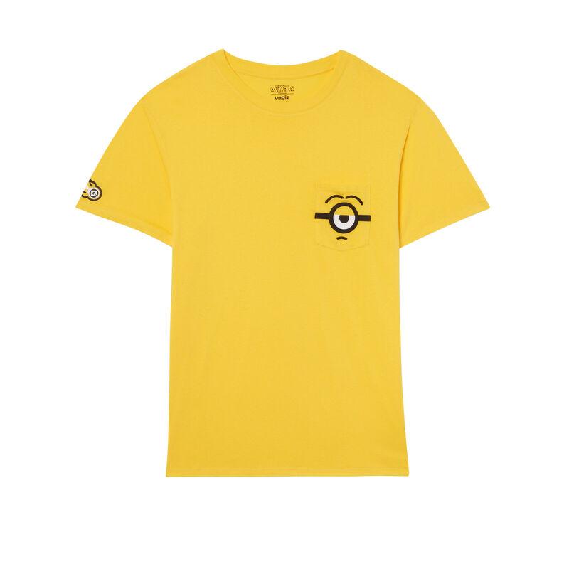 T-shirt met zak Minions - geel;