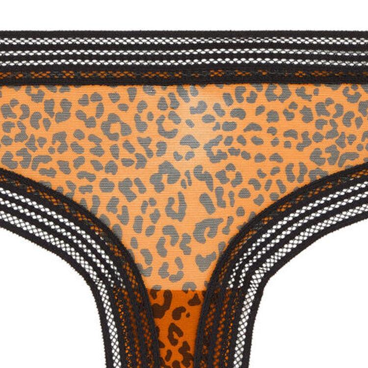 Shorty en tulle imprimé léopard wafiz leopiz;