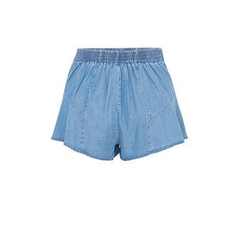 Short jean destariz blue.