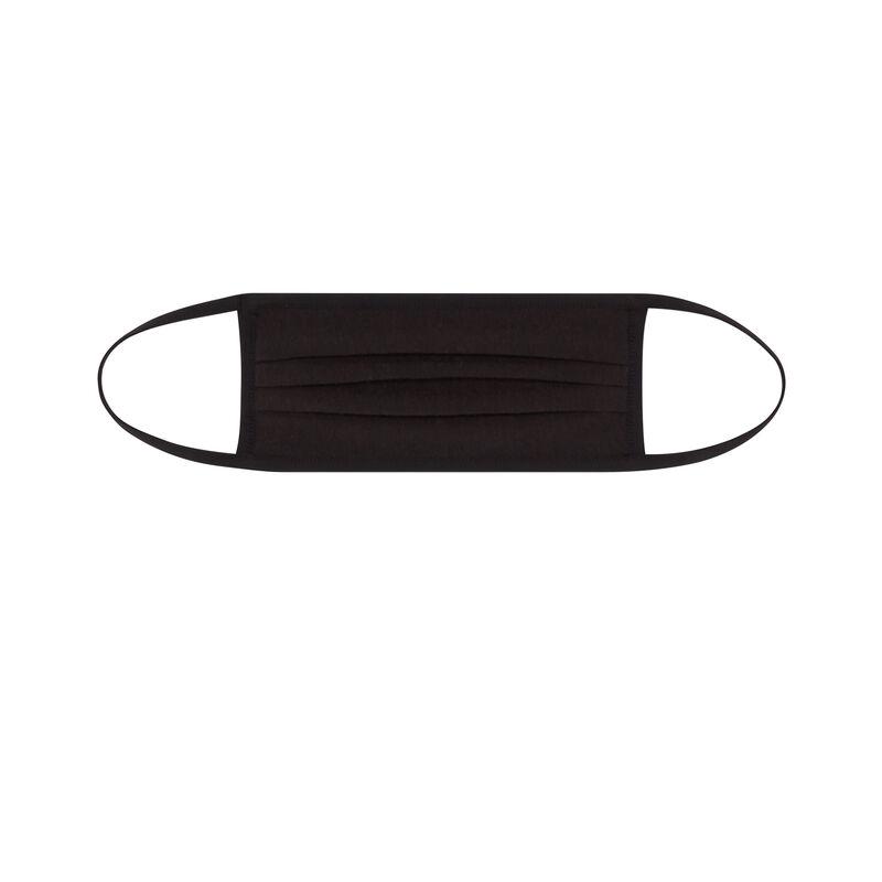 Mondkapje met marmermotief - zwart;