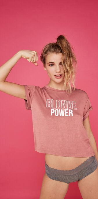 Top rose poudré blondemotiz pink.