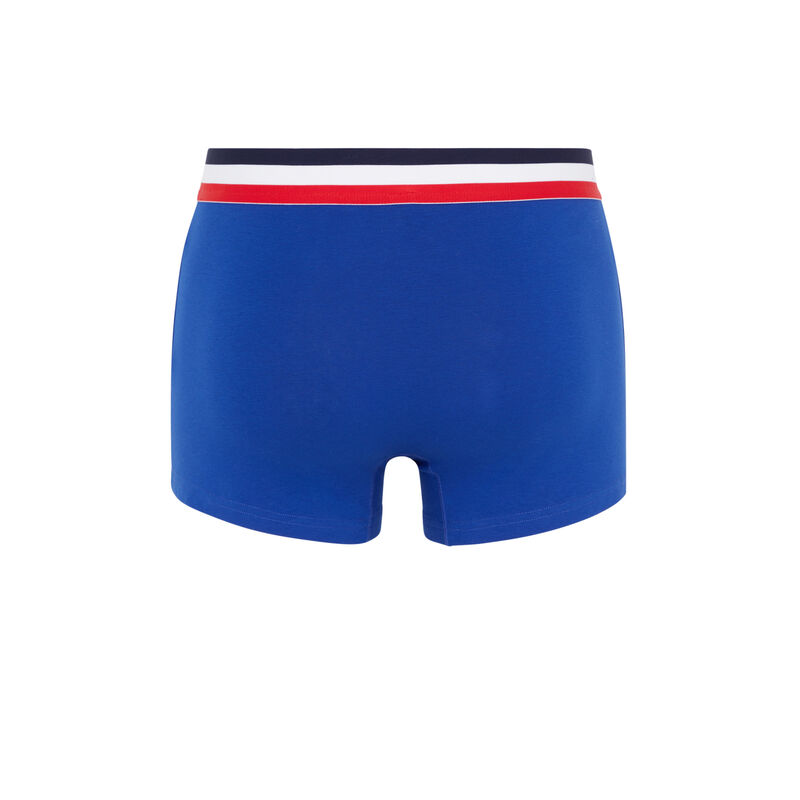 katoenen driekleurige boxershort - blauw;
