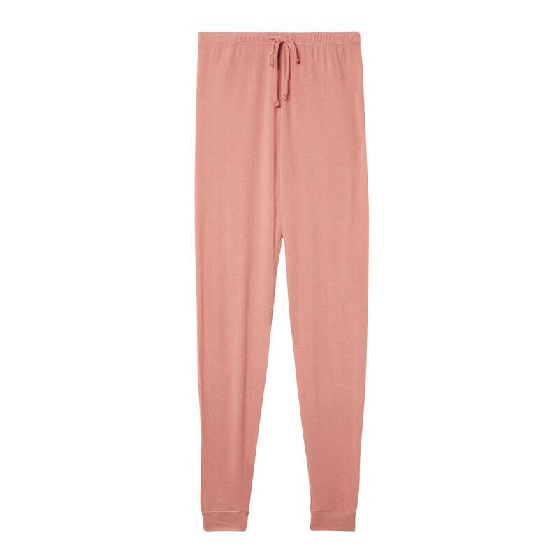 gebreide broek - nude roze;