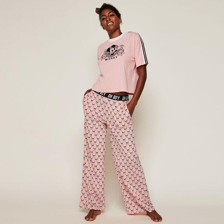 Pantalon large logo mickey versaqueeniz;