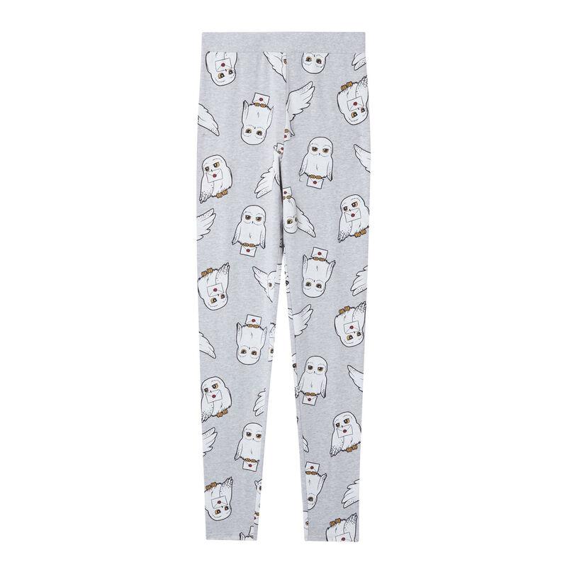 Legging met Hedwigpatroon - grijs;