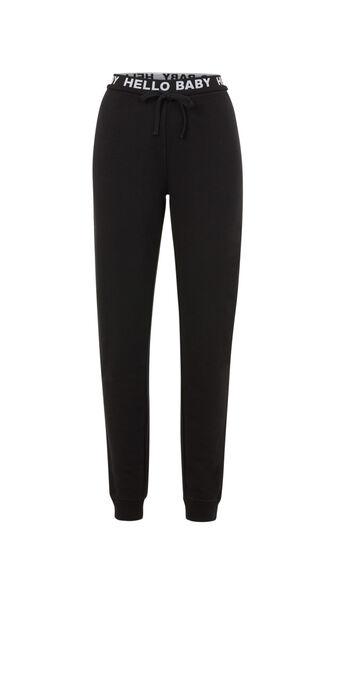 Pantalon noir hellobabiz black.