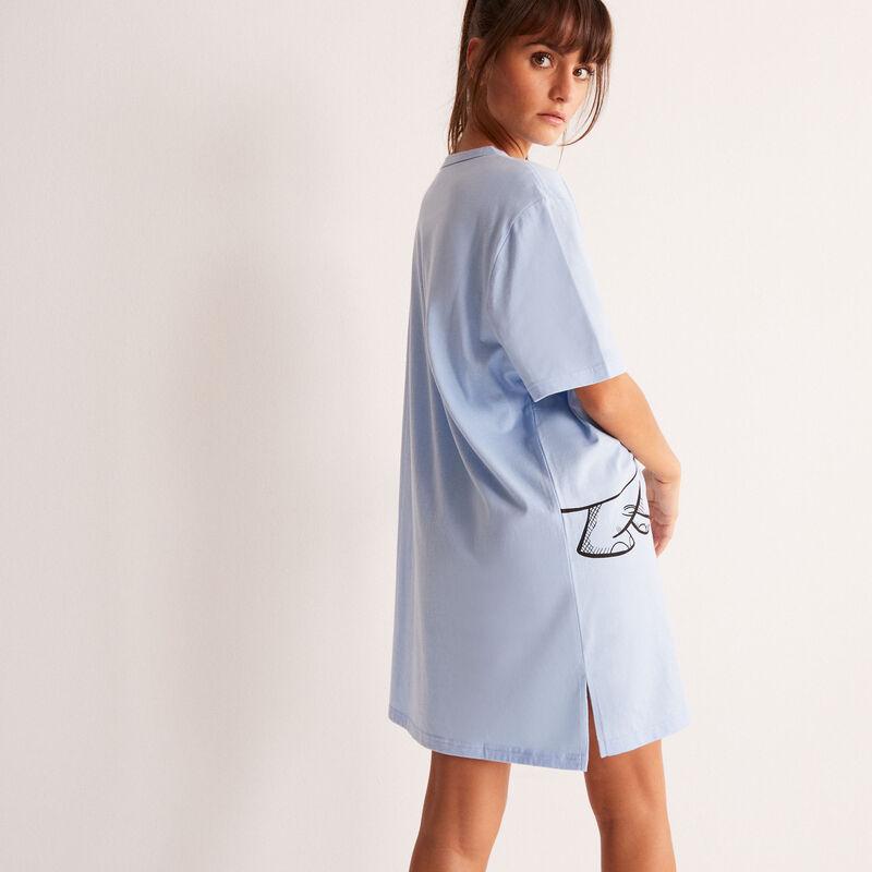 tuniek met Dumbo print - lichtblauw;
