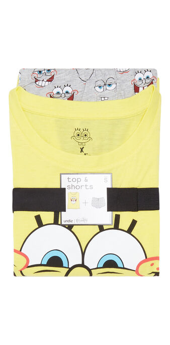 Set pyjama jaune et gris spongebibiz yellow.