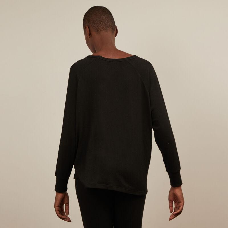 pantalon en maille - noir;