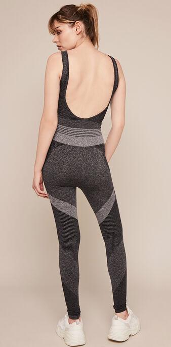Combinaison sport sans coutures seamblockiz gris foncé.