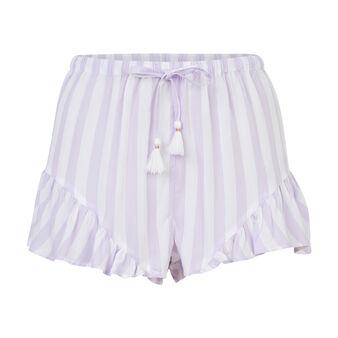 Short paars-wit gestreept dourayuriz purple.