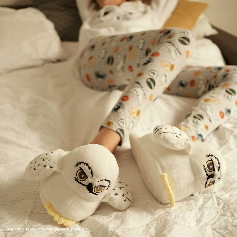 chaussons Hedwige - blanc;
