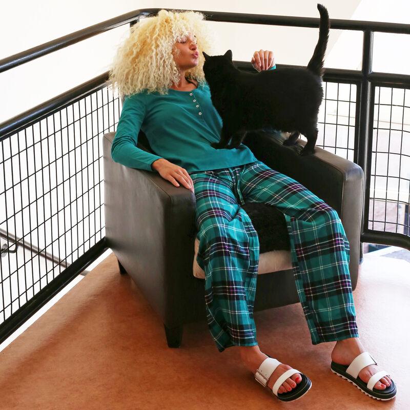 Pantalon à carreaux - vert;
