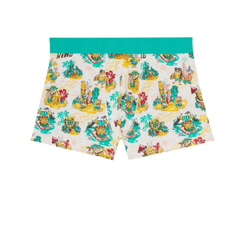 katoenen boxershort Spongebob - ecru;