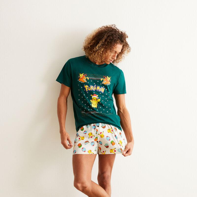 set de pyjama short Pokémon - vert;