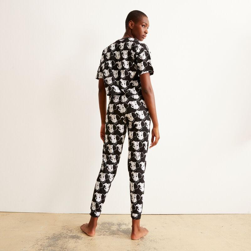 broek met 101 Dalmatiërs motief - zwart;