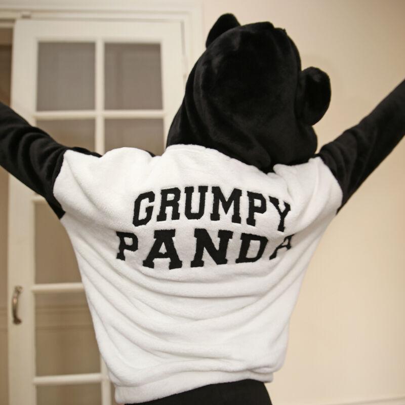 polaire panda à message grumpy panda - noir ;