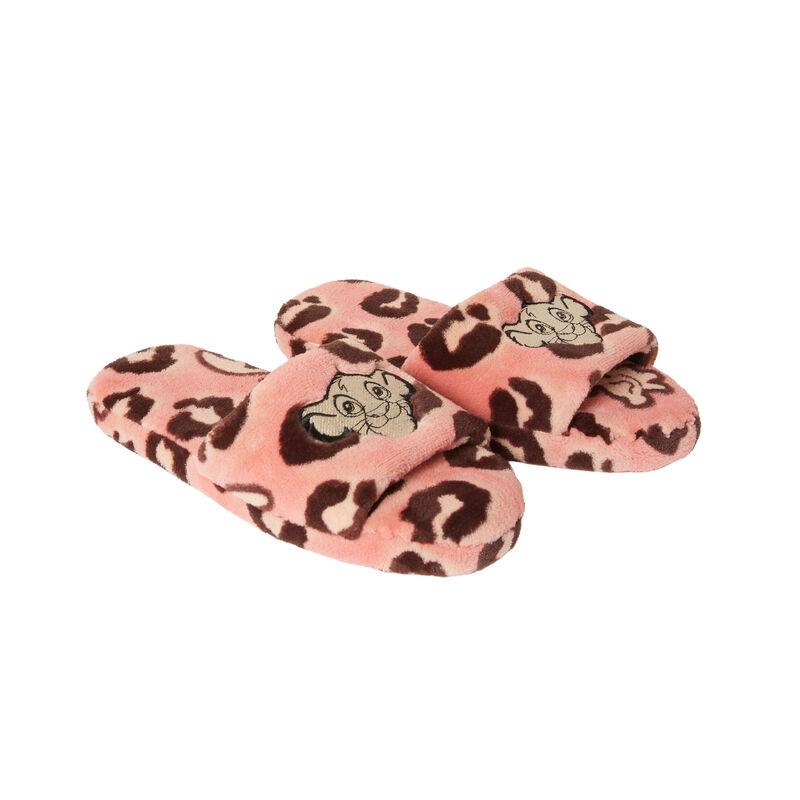 muiltjes met leeuwenkoningpatroon - roze;