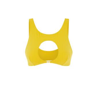 Haut de maillot de bain jaune barockiz yellow.