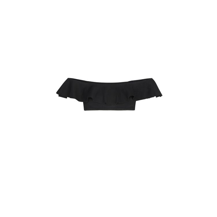 Haut épaules nues noir sabliz;