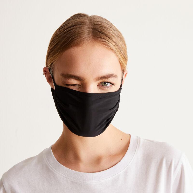 set van drie mondkapjes nothing to hide - zwart;