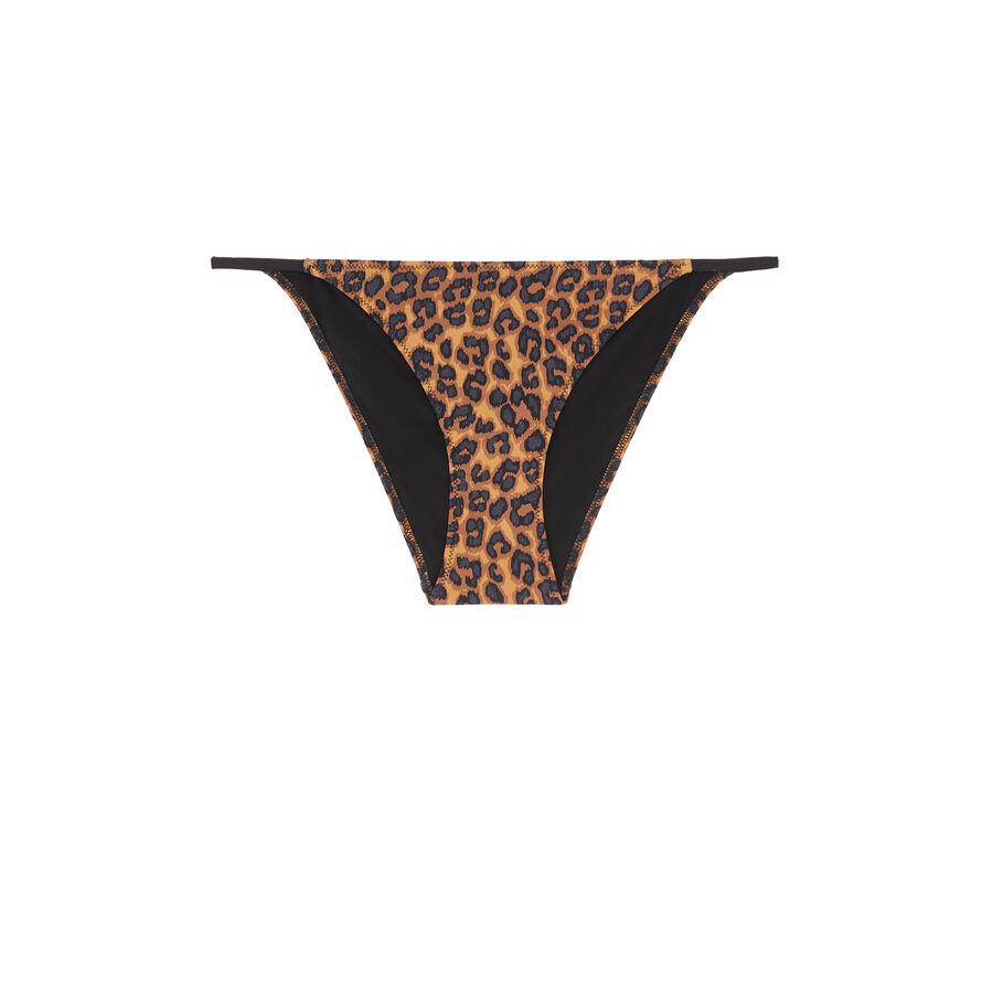 Bas de maillot de bain marron pantheriz;