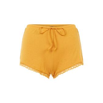Short jaune moutarde sidevitamiz yellow.