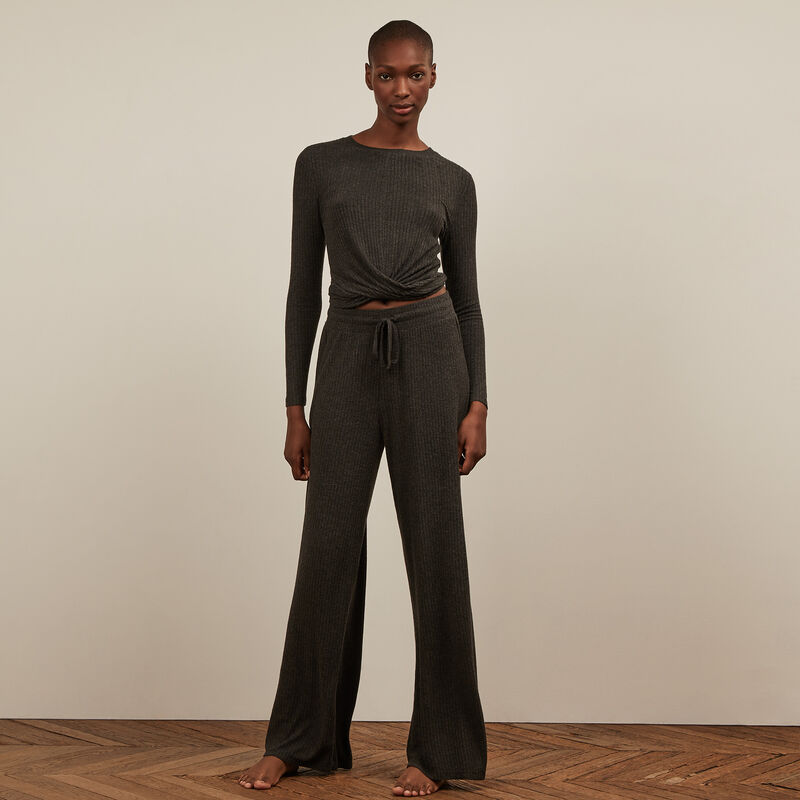 Pantalon large - noir;