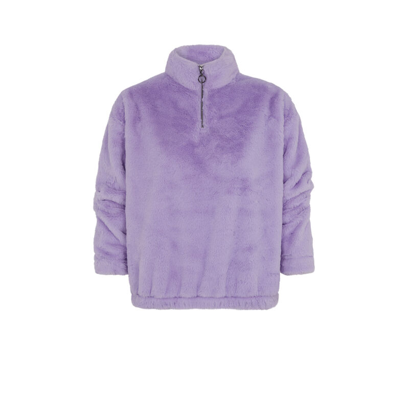 sweat en polaire - lilas;