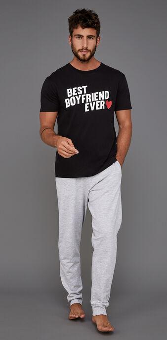 Set pyjama homme noir boyfriz black.