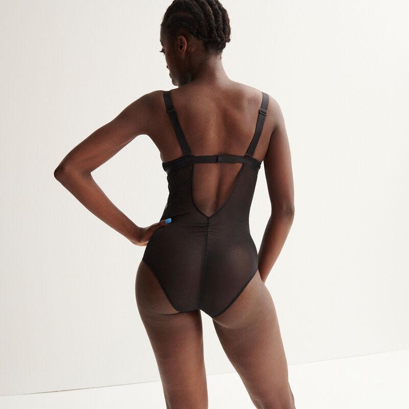 Aya x undiz body met band - zwart;