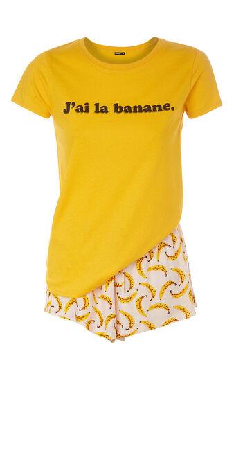 Pyjamaset geel labananiz  yellow.