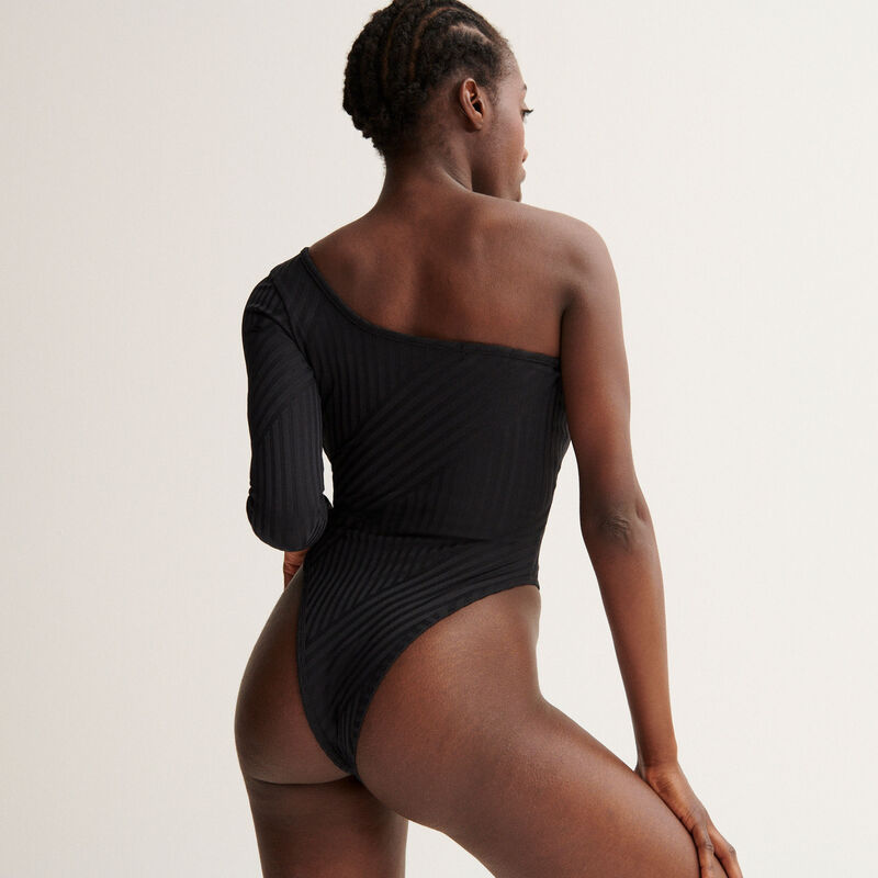 Aya x undiz asymmetrische body - zwart;