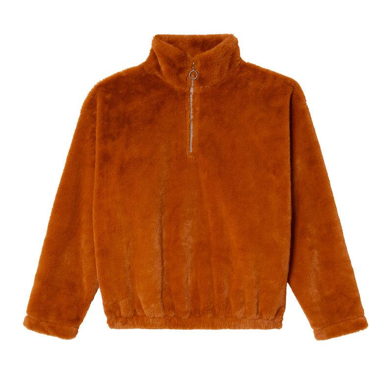 fleece sweatshirt - camel;