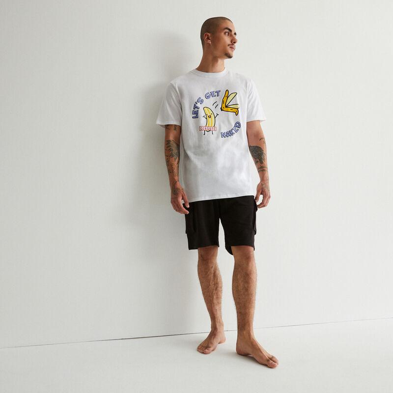 pyjamaset met bananenprint - wit;
