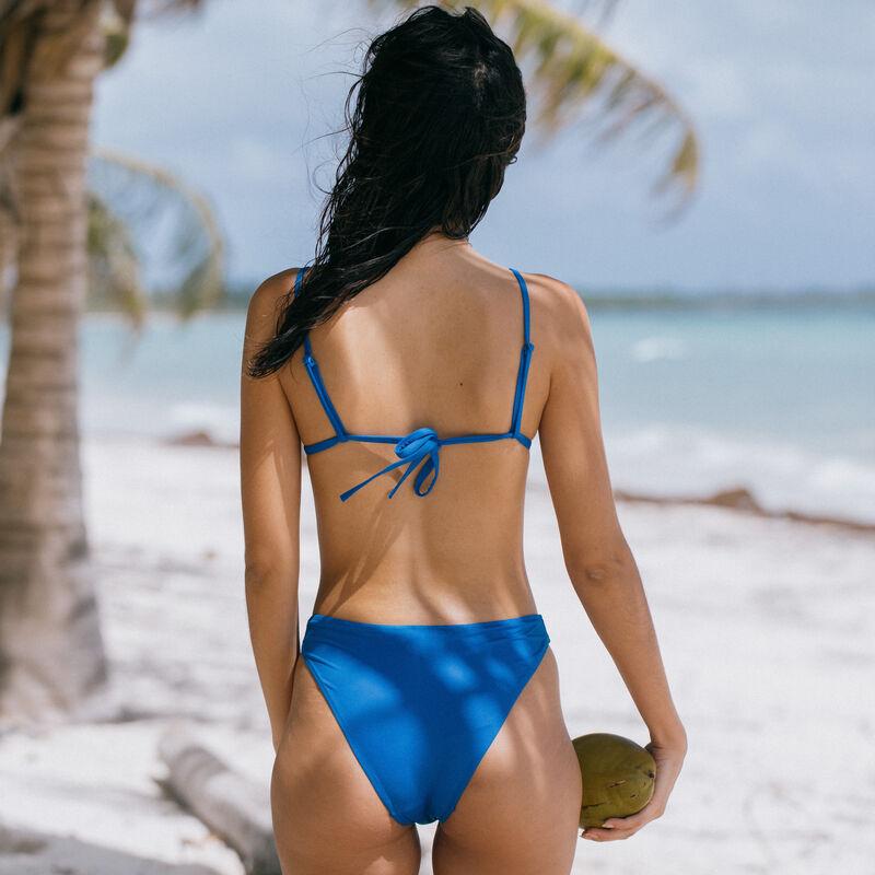 Effen bikinibroekje in slipvorm - blauw;