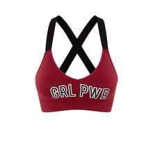 Soutien gorge triangle bordeaux girlpowiz red.