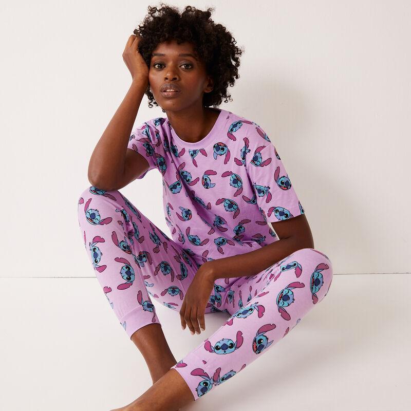 top imprimé stitch - violet;