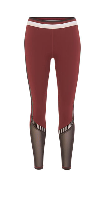 Legging de sport bordeaux ringiz red.