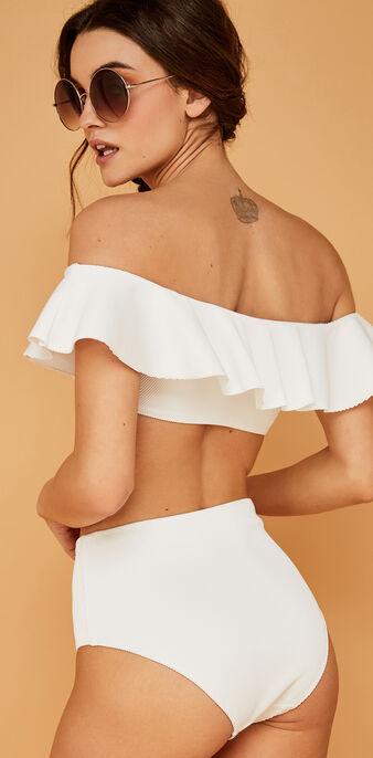 Haut de maillot de bain blanc sabliz white.