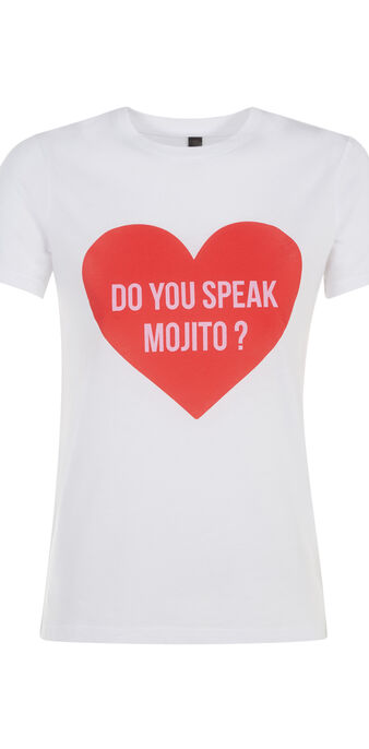 Top blanc speakmojitiz white.