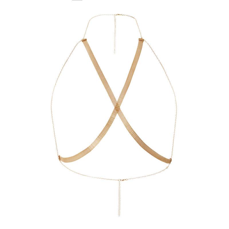 Aya x undiz lijfje met vergulde ketting - goudkleurig;
